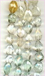 Aquamarine Faceted Nuggets - multi