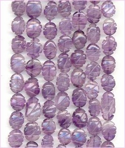 Amethyst Carved Ovals