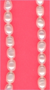 Pearls:  White Oval 4 to 5 mm