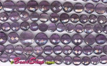 Amethyst Faceted Coins 6x10 to 8x12