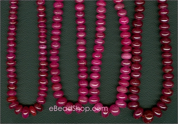 Ruby Roundel Red/Pink 4 - 5 mm