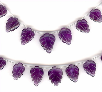 Amethyst Carved Leaves