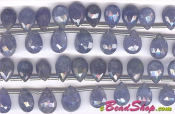 Tanzanite Faceted Brioloted Pear Drop<br>5x7 to 6x12 mm