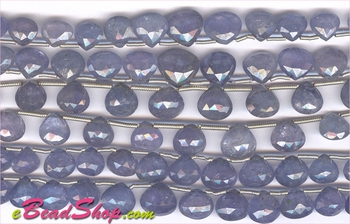 Tanzanite Faceted Briollete Hearts<br>6x6 to 9x10 mm
