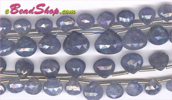Tanzanite Briolette Faceted Hearts<br>6x6 to 10x12 mm