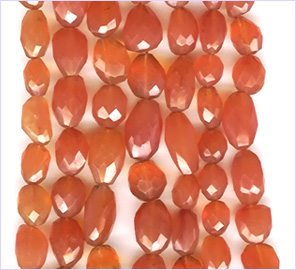 Carnelian Facetted Nuggets 10-12 to 15-18 mm