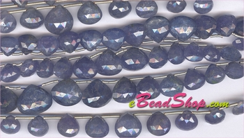 Tanzanite Faceted Briollete Hearts<br>5x5 to 10x10 mm