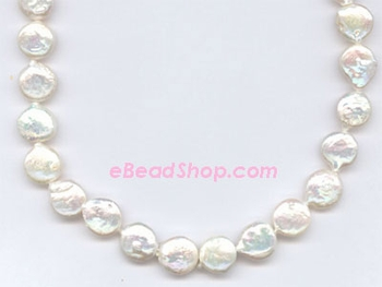Pearls Large Coin 12 - 14 mm