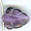 Amethyst Faceted Carved Leaf