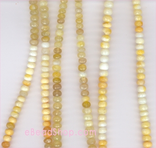 Tanzania, Yellow Opal Facetted Roundel<br>5 to 6 mm $50