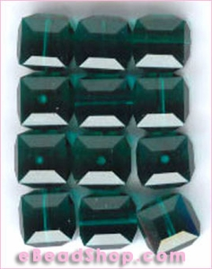 Swarovski  Beads Square Emerald
