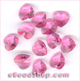 Swarovski  Beads Hearts Rose #209