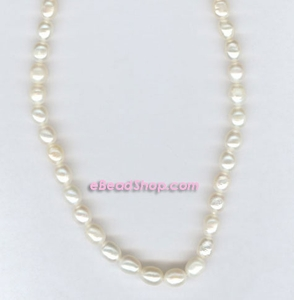 Pearl:  Oval White