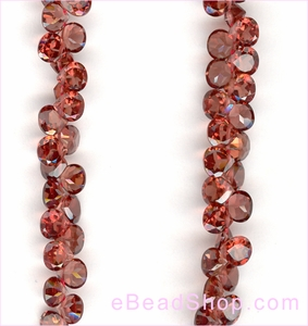 Garnet Facetted Hearts Broillets AA