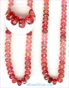 Tourmaline Pink Shades Facetted<br>3 to 5 mm