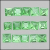 Green Tsavorite Garnet Princess cut