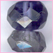 Iolite Roundel Faceted  Round<br>6-10mm