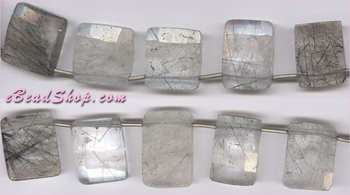 Rutilated Quartz Square<br>21x14 - 18x15 mm