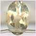 Citrine Oval Facetted Top Drilled�