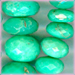 Chrysoprase Faceted Roundel 6 to 8 mm