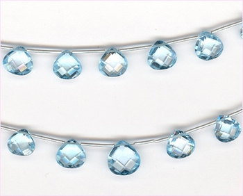 Blue�Topaz Faceted Briollets