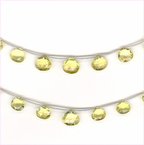 Lemon Quartz Faceted Drops A