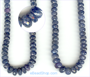 Sapphire roundell facetted B