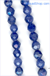 Sodalite Faceted Round 4mm