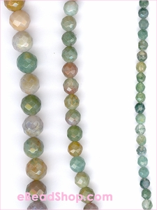 Moss Agate Facated Round Beads