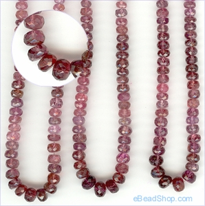 Tourmaline Pink Facetted - Dark<br>4 to 6 mm
