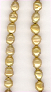 Pearl Copper  Ovals<br>7 x 6 mm