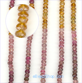 Tourmaline Multicolored Facetted<br>4 to 6 mm