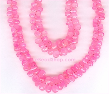 Ruby Pink Faceted Drops