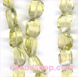 Lemon Quartz Faceted Nuggets