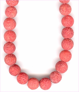 Coral Rough Round Beads