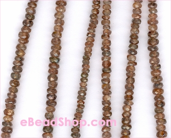 Andulasite Faceted Roundel 3-4mm