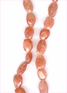 Sunstone Faceted Nuggets
