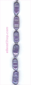 Pearl Purple Rectangular witn lines Large