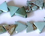 Turquoise triangles beads