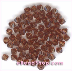 Swarovski  Beads Smoked Topaz 4 mm  #220