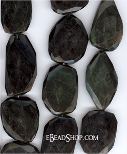 Rainbow Obsidian Flat Faceted Nugget