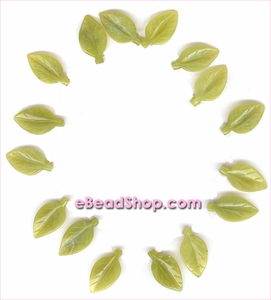 Leaf Bead Serpentine <br>30 x 12