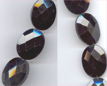 Rainbow Obsidian Faceted Oval
