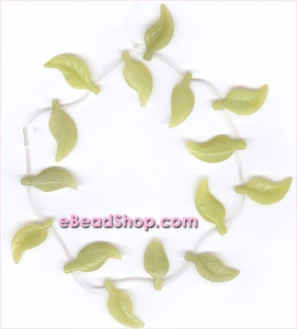 Leaf Beads Serpentine<br>32 x 14
