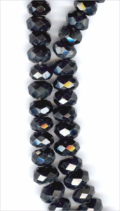 Rainbow Obsidian Faceted Roundell 8mm