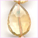 Citrine Center Flat Faceted Teardrop 9x12 - 10x16