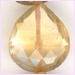 Citrine Center Flat Faceted Teardrop 10x12 - 10x16