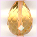 Citrine Faceted Teardrop 6x8 - 6x12