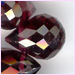 Garnet Facetted Broillets 9x5