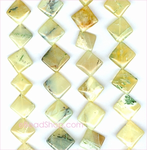 "Yellow Opal ""B""<br> 6x6 to 10x10 mm"